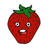 comic cartoon strawberry Royalty Free Stock Photography