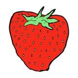 Comic cartoon strawberry Stock Images