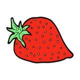 Comic cartoon strawberry Stock Image