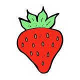 Comic cartoon strawberry Stock Photo