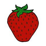 Comic cartoon strawberry Royalty Free Stock Image