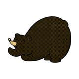 Comic cartoon stretching black bear Stock Photography
