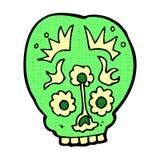 Comic cartoon sugar skull Stock Photos