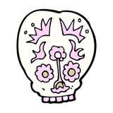 Comic cartoon sugar skull Stock Photo