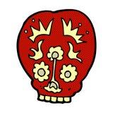 Comic cartoon sugar skull Stock Image