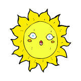 Comic cartoon sun Stock Photos