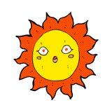 Comic cartoon sun Royalty Free Stock Photo