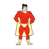 Comic cartoon superhero Royalty Free Stock Image