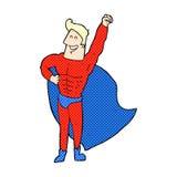 Comic cartoon superhero Stock Photos
