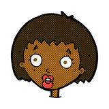 comic cartoon surprised female face Royalty Free Stock Images