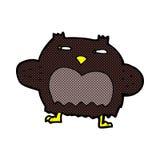 Comic cartoon suspicious owl Stock Photos