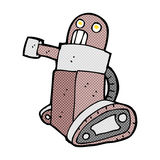 comic cartoon tank robot Stock Photo