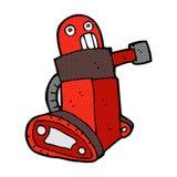 comic cartoon tank robot Stock Images