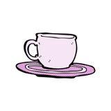 comic cartoon tea cup Royalty Free Stock Photo