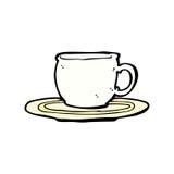 comic cartoon tea cup Royalty Free Stock Photos