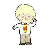 comic cartoon teacher Stock Image