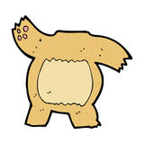 Comic cartoon teddy bear body (mix and match or add own photos). Retro comic book style cartoon teddy bear body (mix and match or add own photos Royalty Free Stock Images
