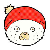 Comic cartoon teddy bear face. Retro comic book style cartoon teddy bear face Stock Image