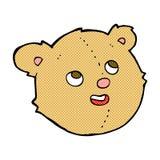Comic cartoon teddy bear head. Retro comic book style cartoon teddy bear head vector illustration