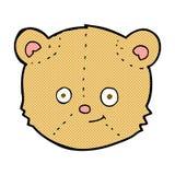 Comic cartoon teddy bear head. Retro comic book style cartoon teddy bear head royalty free illustration