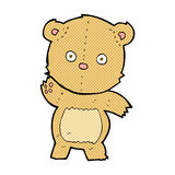 Comic cartoon teddy bear. Retro comic book style cartoon teddy bear Royalty Free Stock Photography
