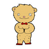 Comic cartoon teddy bear. Retro comic book style cartoon teddy bear Royalty Free Stock Photo