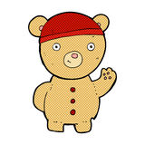 Comic cartoon teddy bear. Retro comic book style cartoon teddy bear Stock Photos