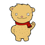 Comic cartoon teddy bear Stock Images