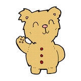 Comic cartoon teddy bear. Retro comic book style cartoon teddy bear Stock Images