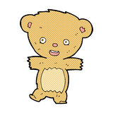 Comic cartoon teddy bear. Retro comic book style cartoon teddy bear Stock Photo