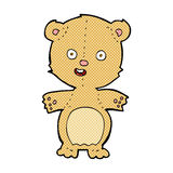 Comic cartoon teddy bear. Retro comic book style cartoon teddy bear Royalty Free Stock Image