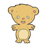 Comic cartoon teddy bear. Retro comic book style cartoon teddy bear Royalty Free Stock Images