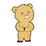 Comic cartoon teddy bear. Retro comic book style cartoon teddy bear Royalty Free Stock Photos
