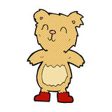Comic cartoon teddy bear. Retro comic book style cartoon teddy bear Stock Photography