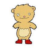 Comic cartoon teddy bear wearing boots Royalty Free Stock Images