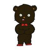 Comic cartoon teddy black bear. Retro comic book style cartoon teddy black bear Stock Images