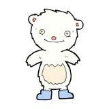 comic cartoon teddy polar bear wearing boots Stock Photography