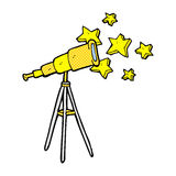 comic cartoon telescope Stock Photos