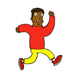 Comic cartoon terrified man Royalty Free Stock Images