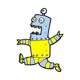 Comic cartoon terrified robot Royalty Free Stock Photography