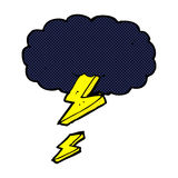 comic cartoon thundercloud Royalty Free Stock Photo