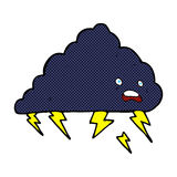 comic cartoon thundercloud Stock Images