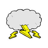 comic cartoon thundercloud Stock Photography