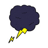 comic cartoon thundercloud symbol Stock Images