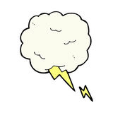 comic cartoon thundercloud symbol Stock Photos