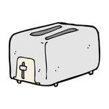 comic cartoon toaster Royalty Free Stock Image