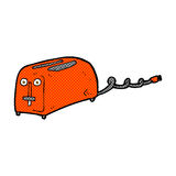 comic cartoon toaster Royalty Free Stock Image