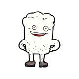 Comic cartoon tooth looking smug Royalty Free Stock Photos