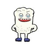 Comic cartoon tooth looking smug Stock Photos