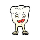 Comic cartoon tooth looking smug Stock Images